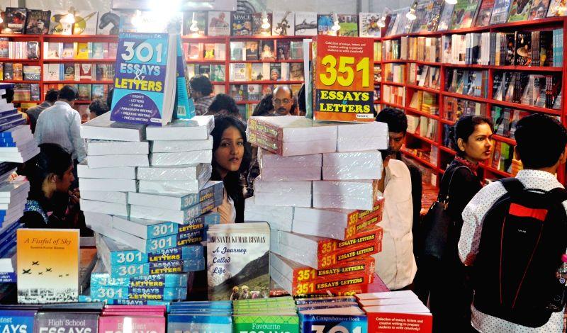 Visitors during International Kolkata Book Fair on Feb 2, 2018.