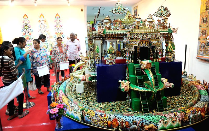 Visitors during `Tibet Festival 2014` at Chitrakala Parishath in Bangalore on July 6, 2014.
