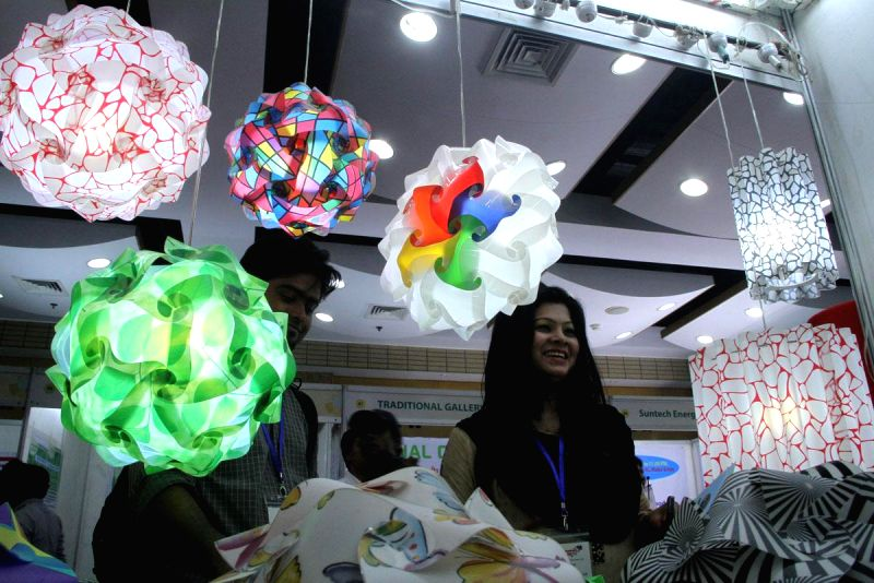 Visitors during two-day long  'DCCI Entrepreneurship and Innovation Expo' held at the Bangabandhu International Conference Centre (BICC) in Dhaka, Bangladesh on June 22, 2014.