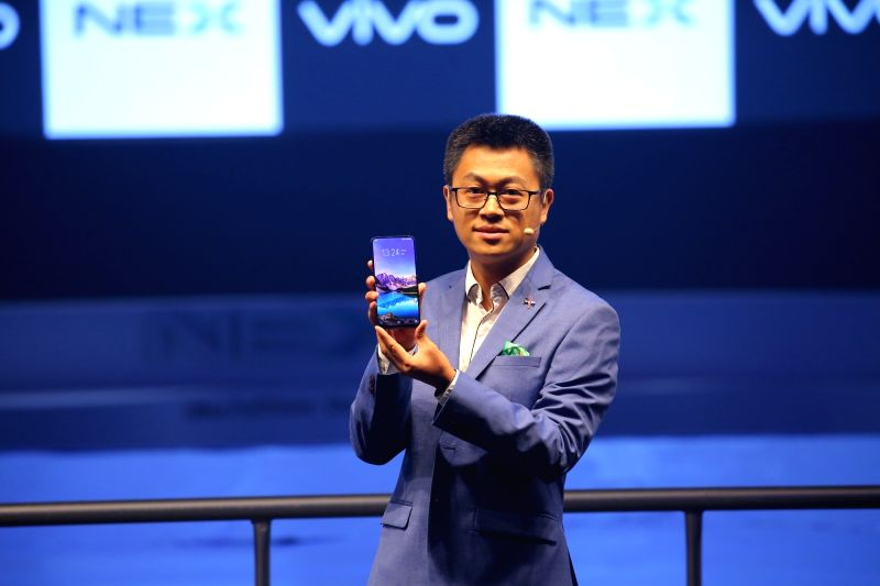 Vivo India Chief Marketing Officer Jerome Chen at the launch of Vivo NEX, in New Delhi, on July 19, 2018.
