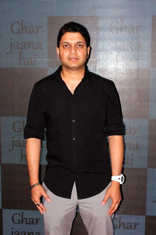 Vocalist Konark Sarangi during the launch of music `Ghar Jaana Hai`, in Mumbai on May 25, 2017.