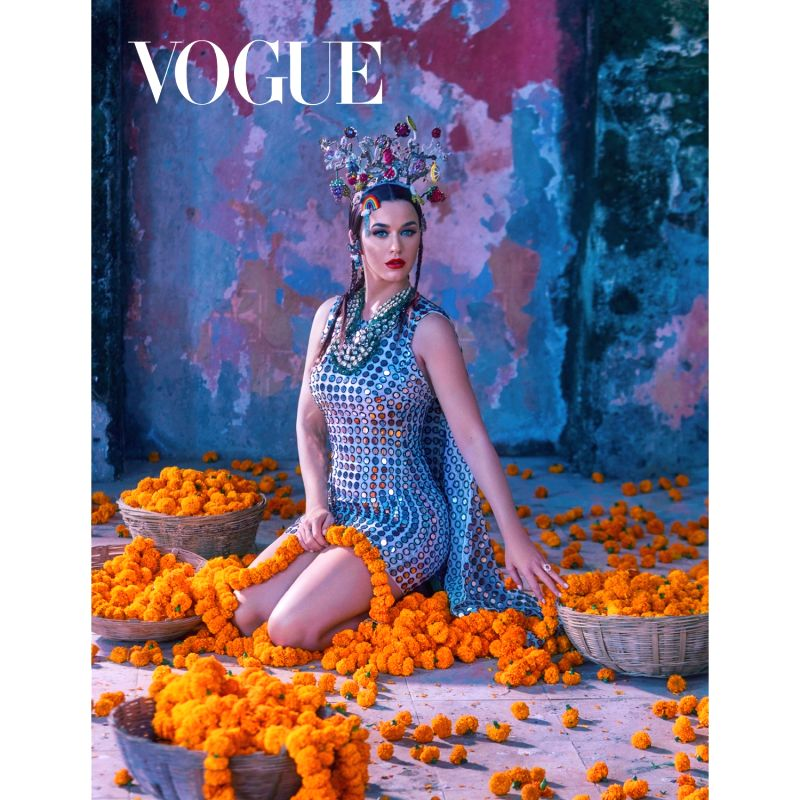 Vogue India January 2020 cover - Katy Perry. (Photographed by Greg Swales, Styled by Anaita Shroff Adajania)