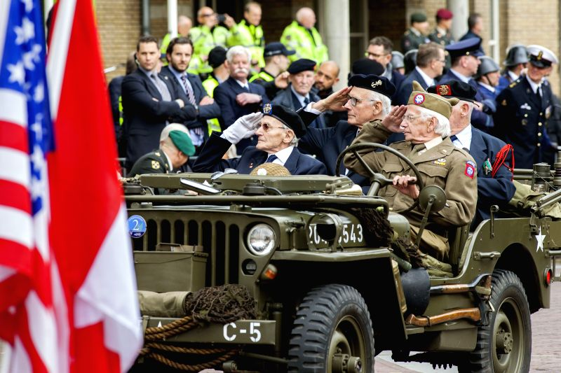 WAGENINGEN (THE NETHERLANDS), May 5, 2017 Veterans of World War II take part in a parade to mark the Liberation Day in Wageningen, the Netherlands, on May 5, 2017. Liberation Day is ...