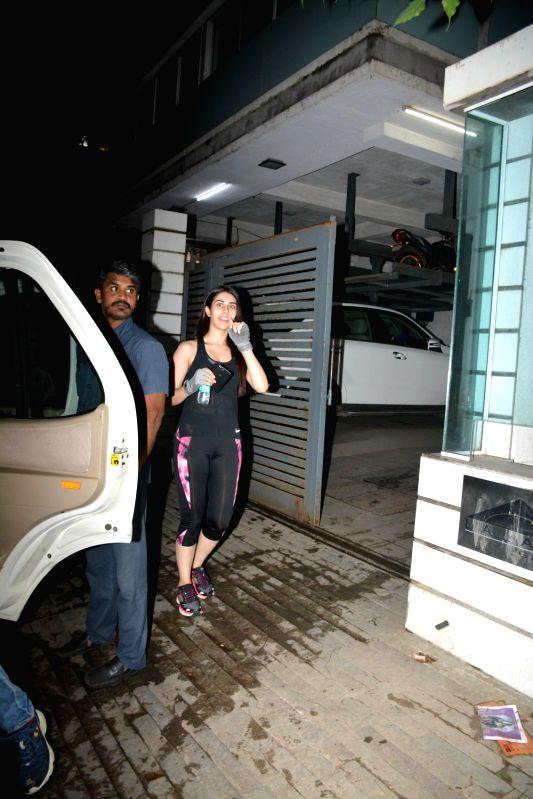 Warina Hussain seen at Mumbai's Bandra on Aug 4, 2018.