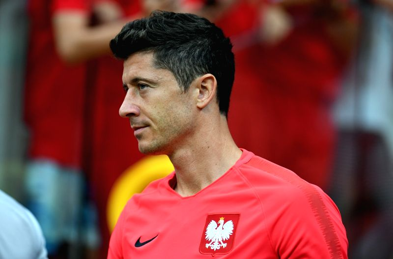 WARSAW, June 12, 2018 - Poland's Robert Lewandowski attends a training session ahead of the 2018 Russia World Cup, in Warsaw, Poland, on June 11, 2018.
