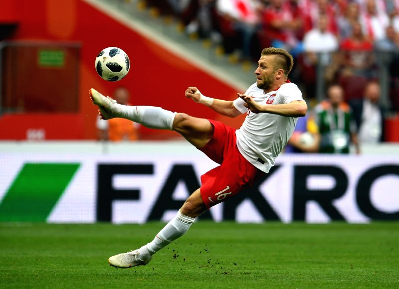 Warsaw, June 13, 2018 - Jakub Blaszczykowski of Poland competes during a friendly soccer match between Poland and Lithuania in Warsaw, Poland, on June 12, 2018. Poland won 4-0.