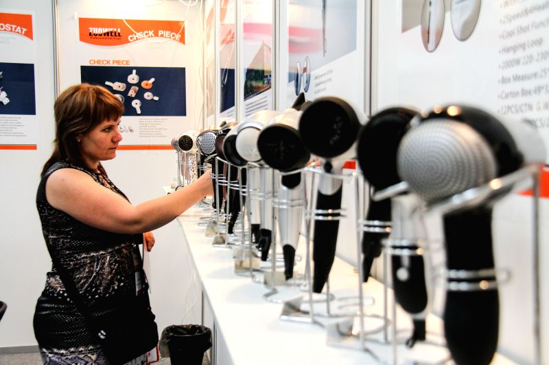 WARSAW, June 7, 2017 - A woman visits the 6th China Homelife Trade Show Poland in Warsaw, Poland, on June 6, 2017. The three-day fair of Chinese producers in Central and Eastern Europe kicked off on ...