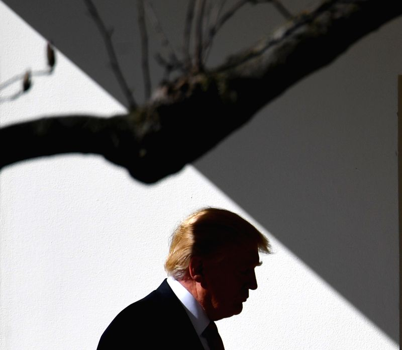 WASHINGTON, April 29, 2017 - File photo taken on Feb. 24, 2017 shows U.S. President Donald Trump walking to the Oval Office of the White House in Washington D.C., the United States. April 29, 2017 ...