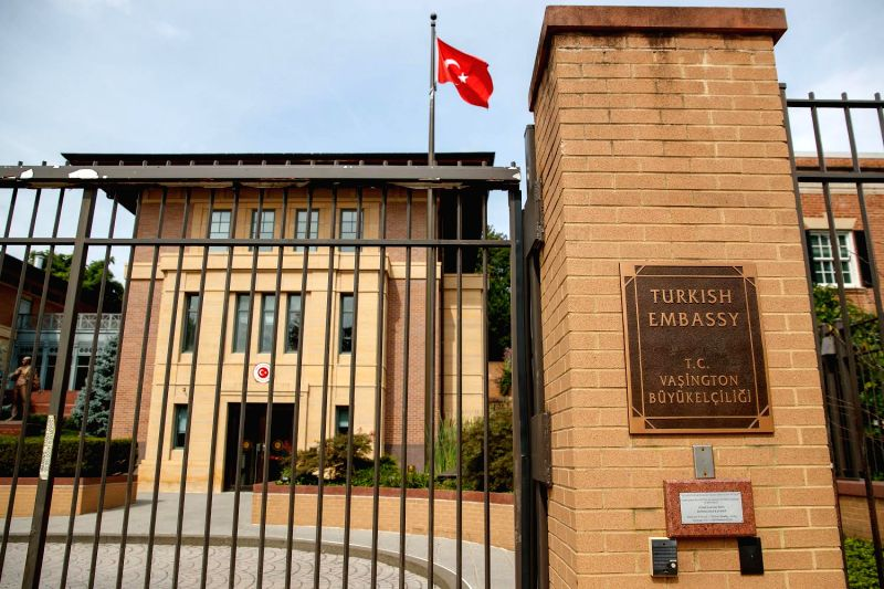 WASHINGTON Aug. 10, 2018 The Embassy of Turkey to the United States in Washington D.C., United States on Aug 10, 2018.