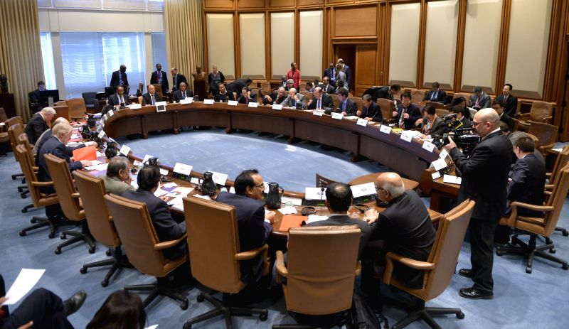 The Finance Ministers and Central Bank Governors Meeting of the BRICS (Brazil, Russia, India, China and South Africa) is held in Washington D.C., capital ..