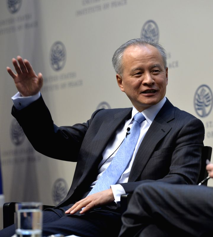 Chinese ambassador to the United States Cui Tiankai speaks on the China-U.S. relations during the opening ceremony of the 6th China-US Project on Crisis ...