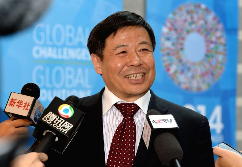 Chinese Vice Finance Minister Zhu Guangyao speaks to Chinese media during the IMF and World Bank spring meetings in Washington D.C., capital of the United . - Zhu Guangyao