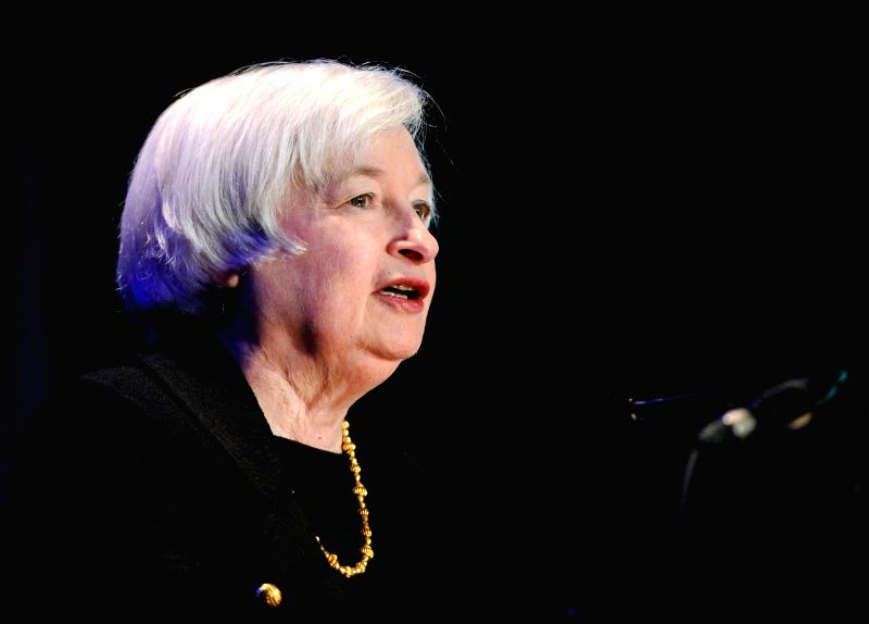 U.S. Federal Reserve Chair Janet Yellen speaks at the opening session of the ninth biennial community development research conference of Federal Reserve ...