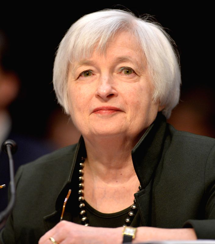 "U.S. Federal Reserve chairwoman Janet Yellen testifies before the Joint Economic Committee of the U.S. Congress on ""The Economic Outlook"", on ..."