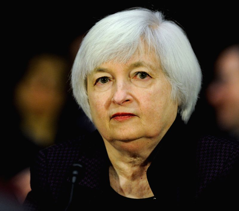 U.S. Federal Reserve chair Janet Yellen testifies before the senate banking, housing and urban affairs committee during a hearing on her semiannual monetary ...