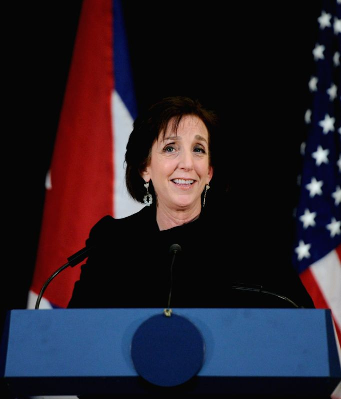 Roberta Jacobson, U.S. Assistant Secretary for Western Hemisphere, speaks during a press conference after the second round of talks between Washington and ...