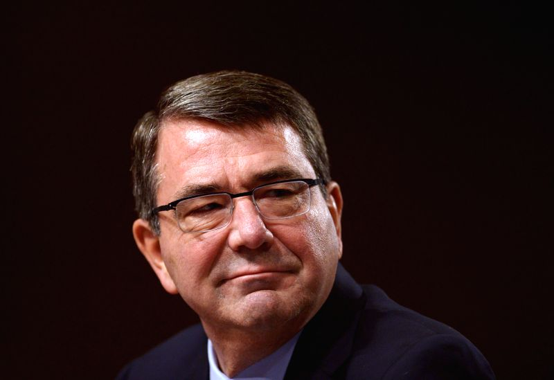 Ashton Carter, U.S. President Barack Obama's nominee to be next Secretary of Defense, listens to a question while testifying in a nominations hearing before .