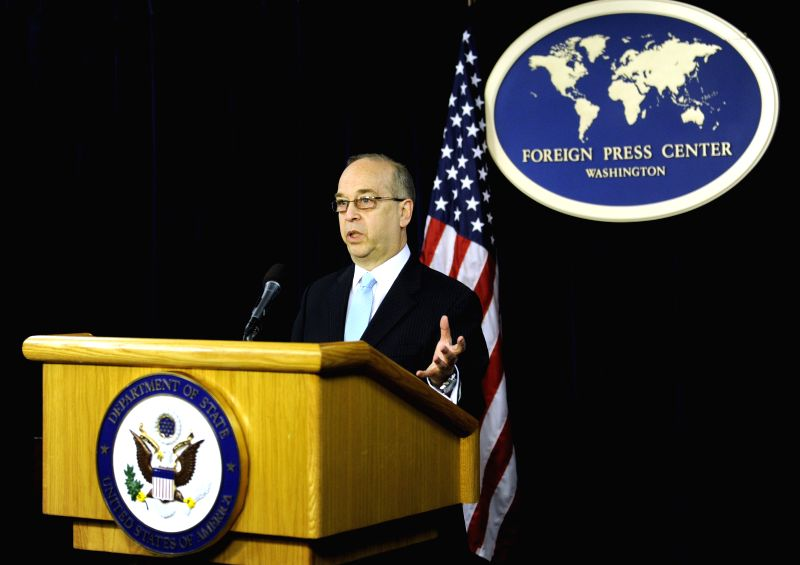 Daniel Russel, U.S. assistant secretary of state for East Asian and Pacific affairs, speaks at a press conference in Washington D.C. Feb. 4, 2015. ...