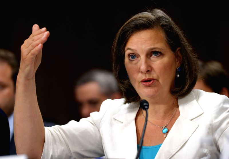 Assistant Secretary of State for European and Eurasian Affairs Victoria Nuland testifies before the Senate committee on foreign relations hearing to examine
