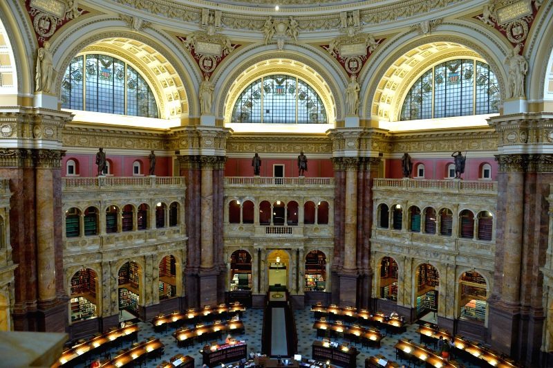 Photo taken on July 24, 2014 shows the Library of Congress in Washington D.C., capital of the United States. A total of 40 Junior Fellow Summer Interns ...