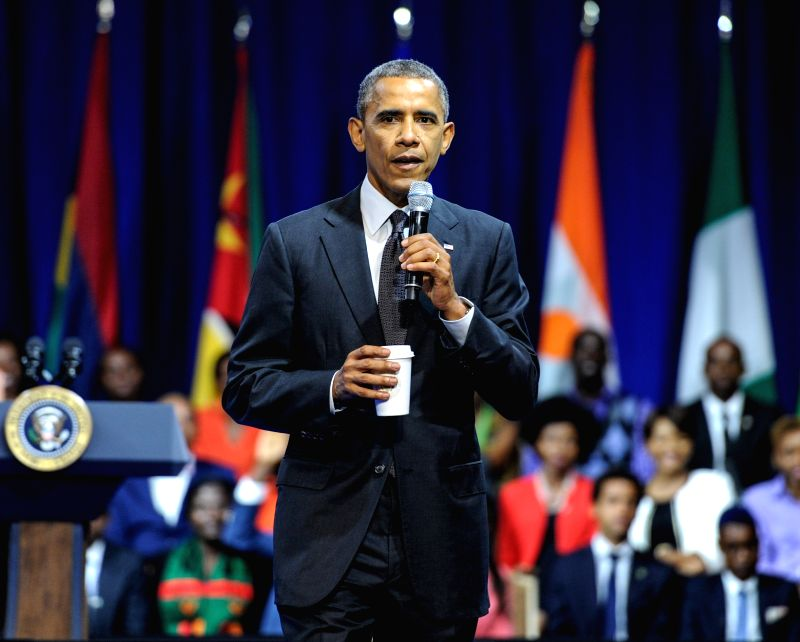 U.S. President Barack Obama speaks during the Presidential Summit for the Washington Fellowship for Young African Leaders in Washington D.C., capital of the