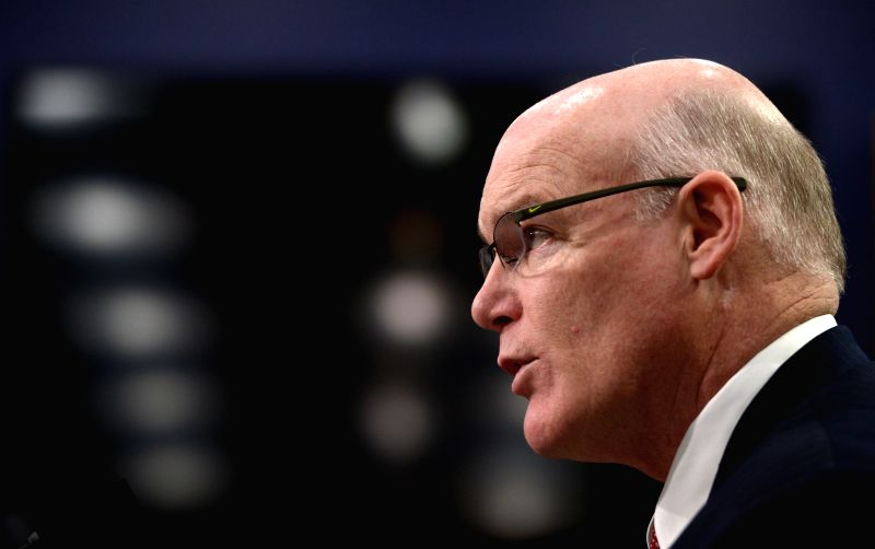 U.S. Secret Service Director Joseph Clancy testifies at a hearing before the House Appropriations Committee on Capitol Hill in Washington D.C., the United ...