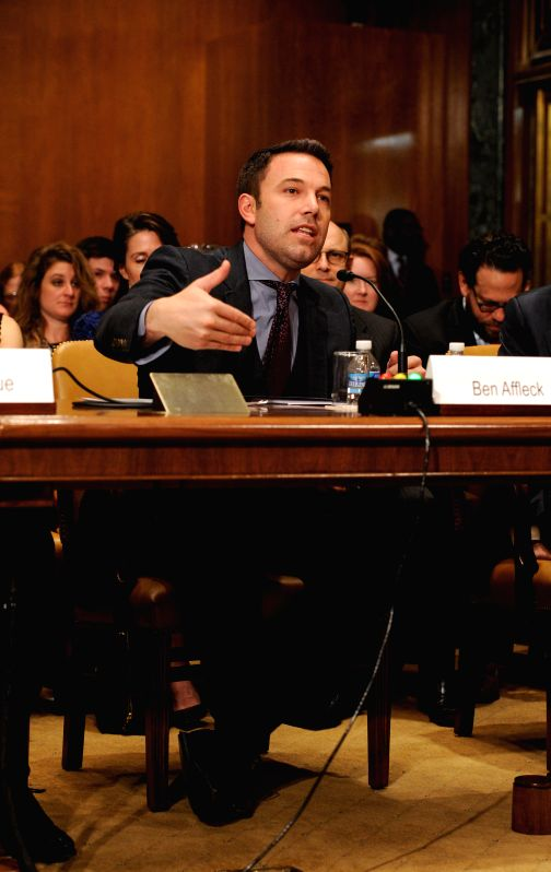 Actor, filmmaker and founder of Eastern Congo Initiative Ben Affleck testifies before state, foreign operations subcommittee of senate appropriations ...