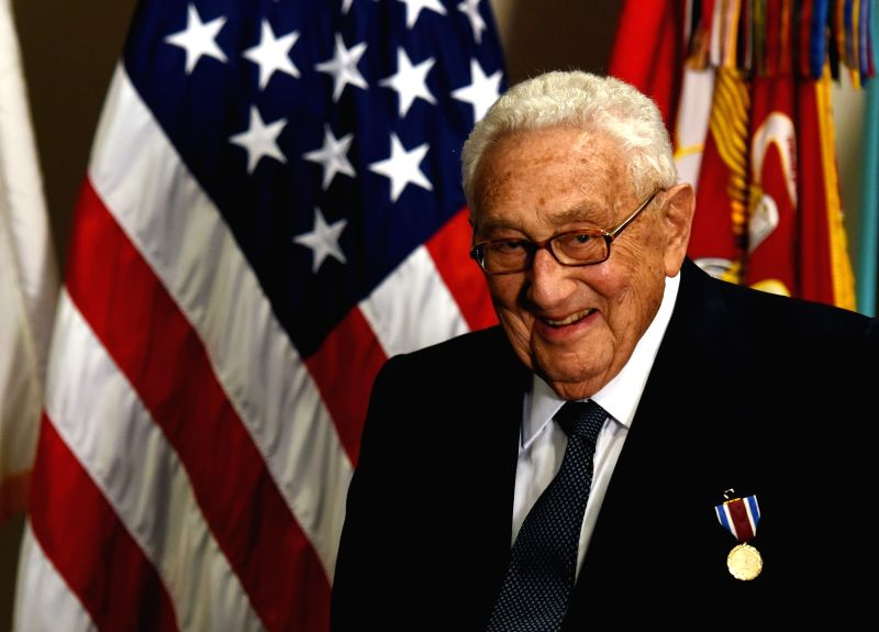 WASHINGTON D.C., May 10, 2016 - Former U.S. Secretary of State Henry Kissinger is seen at an award ceremony hold by U.S. Defense Secretary Ash Carter honoring him for his years of distinguished ...
