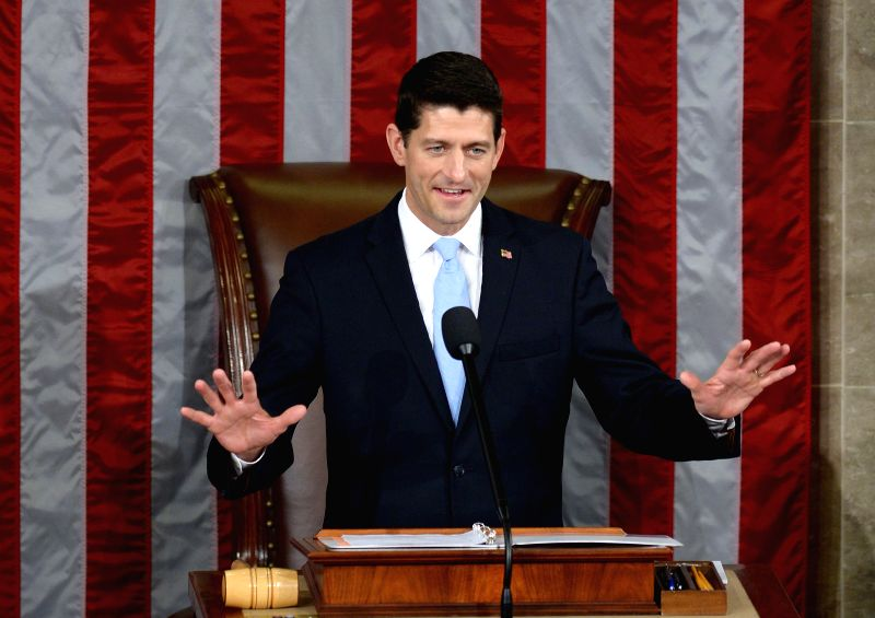 WASHINGTON D.C., Oct, 29, 2015 Paul Ryan speaks after being elected as the new Speaker of the U.S. House of Representatives, in the House Chamber on Capitol Hill in Washington D.C., the ...