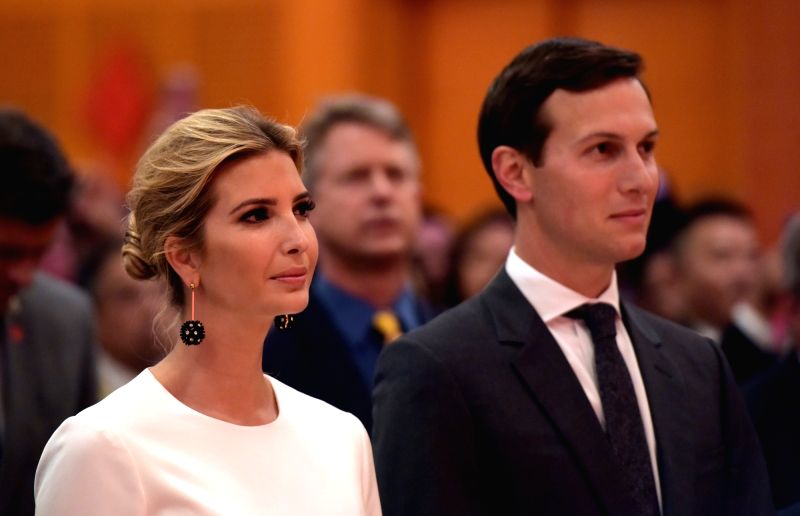 WASHINGTON D.C., Sept. 28, 2017 - Ivanka Trump (L) and her husband Jared Kushner, White House senior adviser, attend the National Day reception held by the Chinese Embassy in Washington D.C. Sept. ...