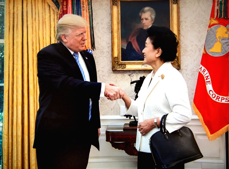 WASHINGTON D.C., Sept. 29, 2017 - U.S. President Donald Trump (L) meets with Chinese Vice Premier Liu Yandong at the White House in Washington D.C. Sept. 28, 2017. It is extremely important to ...