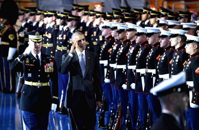 U.S.-WASHINGTON D.C.-ARMED FORCES-OBAMA-FAREWELL
