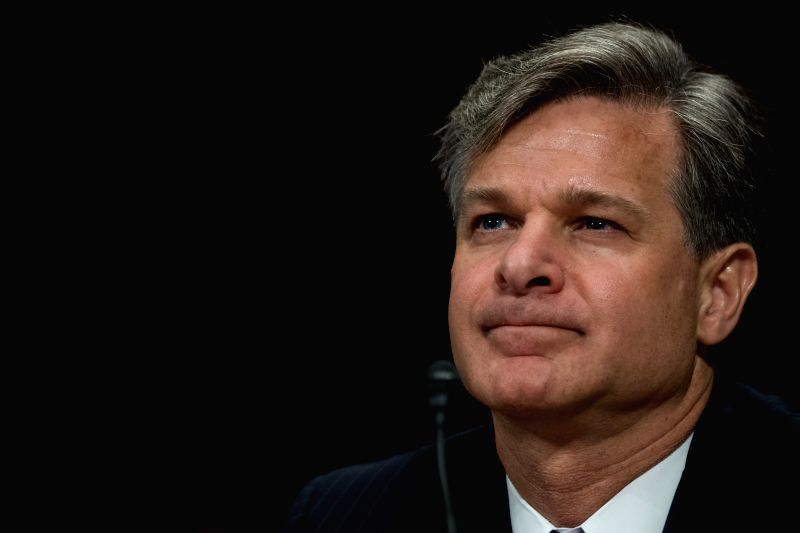 WASHINGTON, July 12, 2017 - Christopher A. Wray testifies during the Senate Judiciary Committee hearing on his nomination to be the new Director of the Federal Bureau of Investigation (FBI) in ...