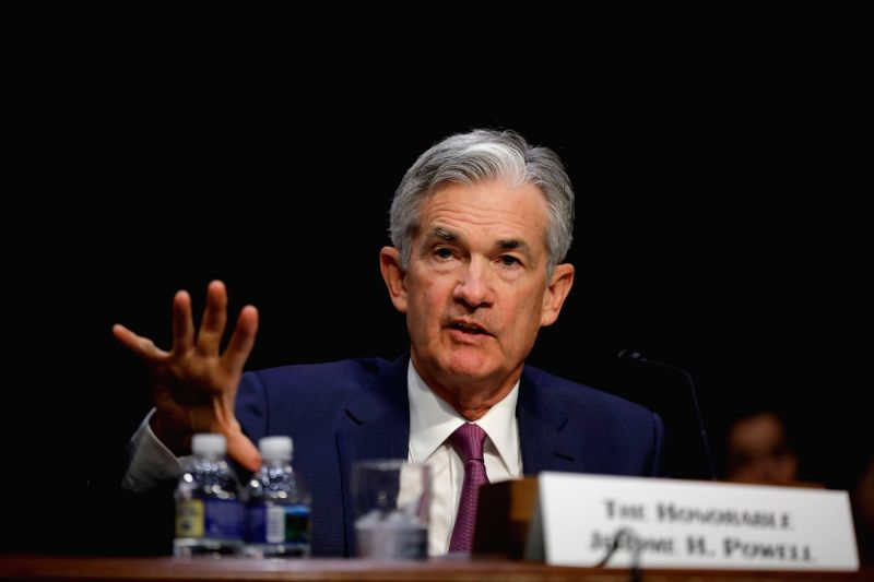 WASHINGTON, July 17, 2018 - U.S. Federal Reserve Chairman Jerome Powell testifies before the Senate Banking Committee, on Capitol Hill in Washington D.C., the United States, on July 17, 2018. Jerome ...
