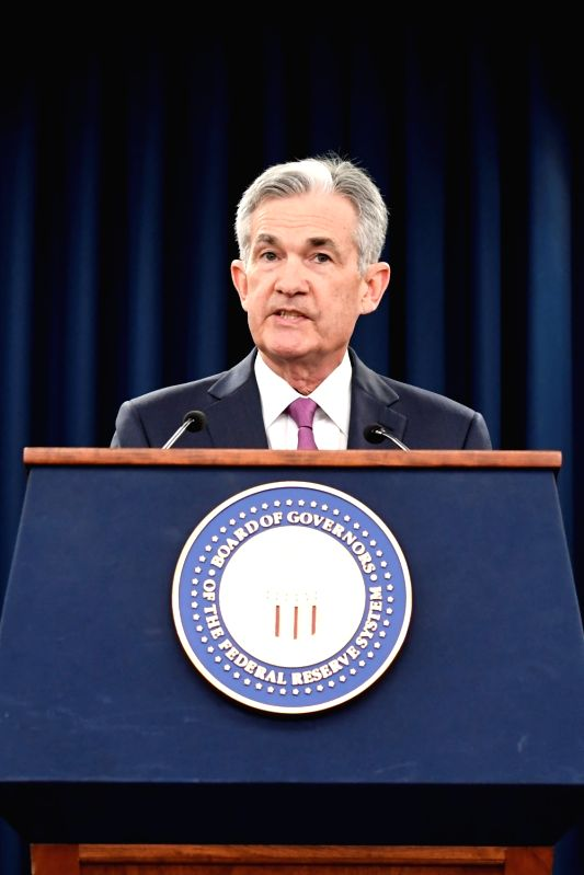 WASHINGTON, June 13, 2018 - U.S. Federal Reserve Chairman Jerome Powell speaks during a news conference in Washington D.C., the United States, on June 13, 2018. The U.S. Federal Reserve on Wednesday ...
