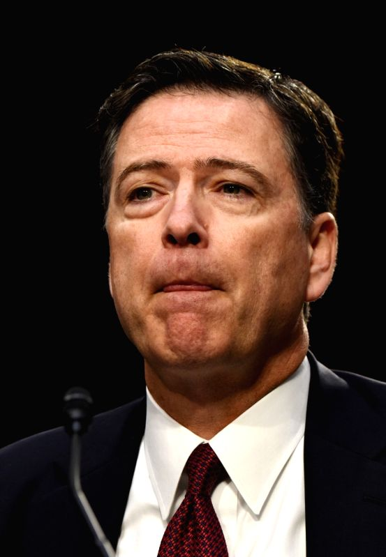 WASHINGTON, June 8, 2017 - Former Director of Federal Bureau of Investigations James Comey attends a Senate Intelligence Committee hearing on Capitol Hill, in Washington D.C., the United States, on ...