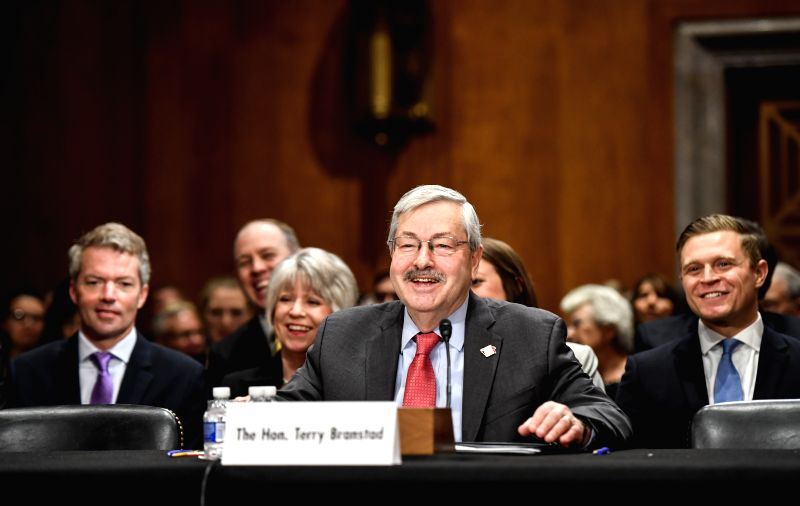 WASHINGTON, May 2, 2017 - Iowa Governor Terry Branstad (Front) testifies before the U.S. Senate Foreign Relations Committee on a hearing considering him to be U.S. Ambassador to China on Capitol Hill ...
