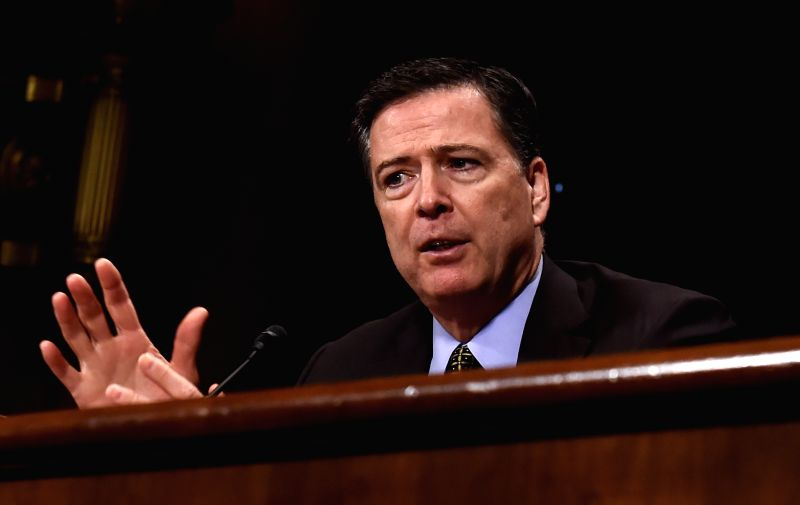 WASHINGTON, May 3, 2017 - U.S. FBI Director James Comey testifies before the U.S. bipartisan Senate Judiciary Committee hearing on Capitol Hill in Washington D.C., the United States, May 3, 2017. ...
