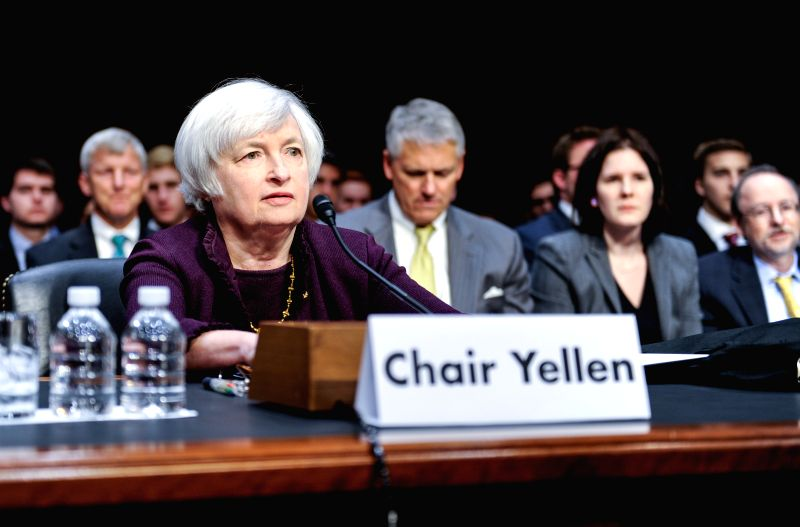 U.S. Federal Reserve Chair Janet Yellen testifies before the Joint Economic Committee of U.S. Congress during a hearing on Capitol Hill in Washington D.C., capital