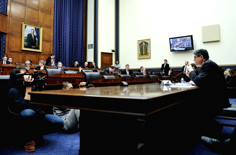 Photo: U.S. Treasury Secretary Jacob Lew testifies before the House Committee on Finance Services of U.S. Congress during a hearing on Capitol Hill in Washington ..