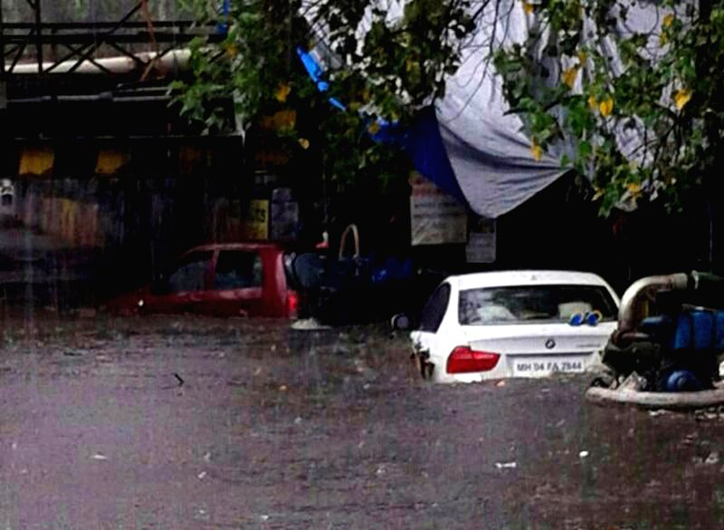Waterlogged streets of Mumbai after heavy rains on July 2, 2014.