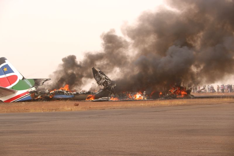 SOUTH SUDAN-WAU-PLANE-CRASH