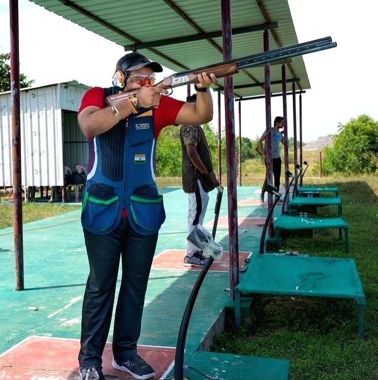 WC trap shooting winner campaigns for mother at TN's Srirangam.(photo: royal_pudukkottai_sportsclub Instagram)