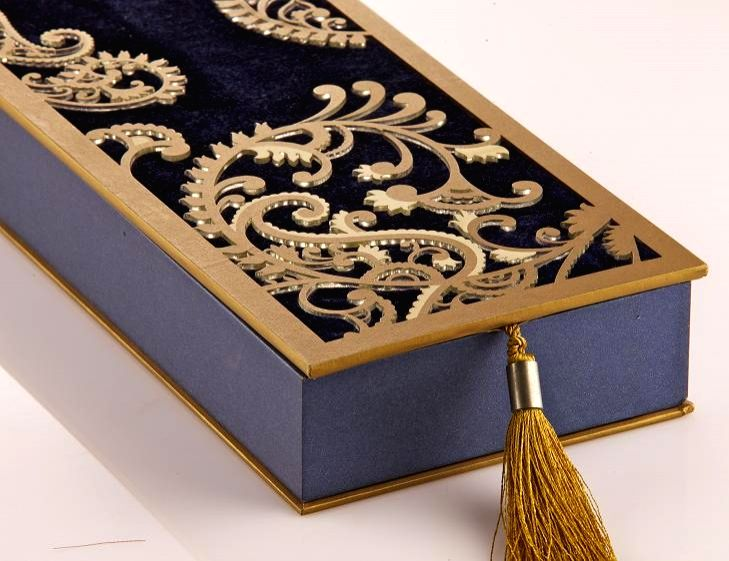 Gift Box Wedding Invitations: Twinkling, Bejewelled Indian Wedding Cards