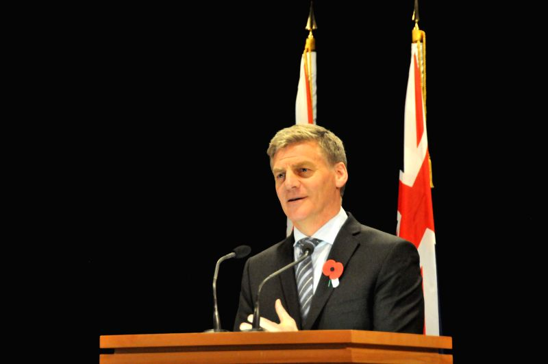WELLINGTON, April 24, 2017 - New Zealand's Prime Minister Bill English announces his cabinet reshuffle at a press conference in Wellington April 24, 2017. - Bill English