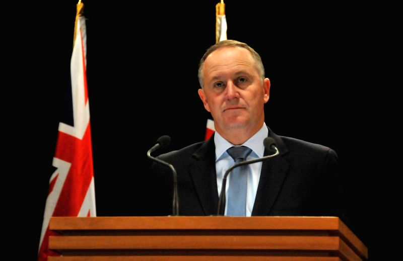 WELLINGTON, April 5, 2016 - New Zealand's Prime Minister John Key addresses a press conference in Wellington, capital of New Zealand, April 5, 2016. The New Zealand government is nominating former ... - John Key