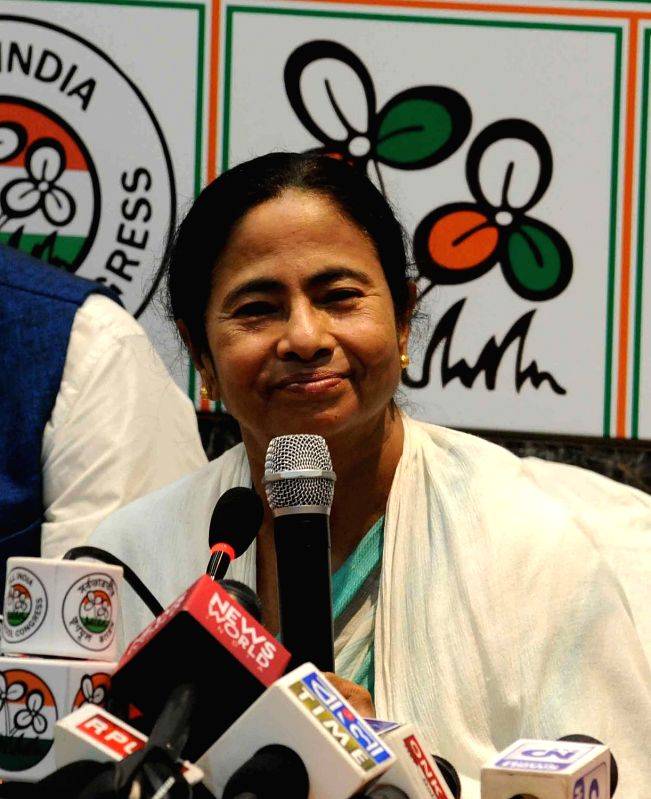 West Bengal Chief Minister and Trinamool Congress supremo Mamata Banerjee addresses a press conference regarding party's performance in the recently concluded 2016 West Bengal assembly Polls ... - Mamata Banerjee