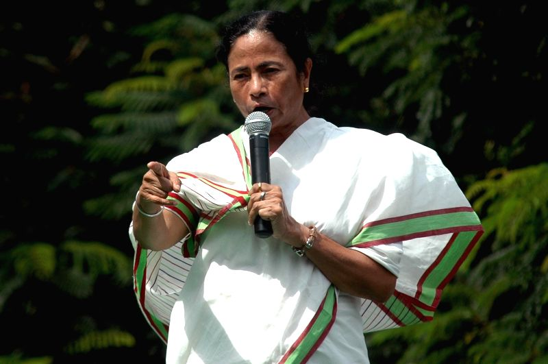 West Bengal Chief Minister Mamata Banerjee addresses on the foundation day of Trinamool Congress Chhatra Parishad in Kolkata on Aug 28, 2014. - Mamata Banerjee