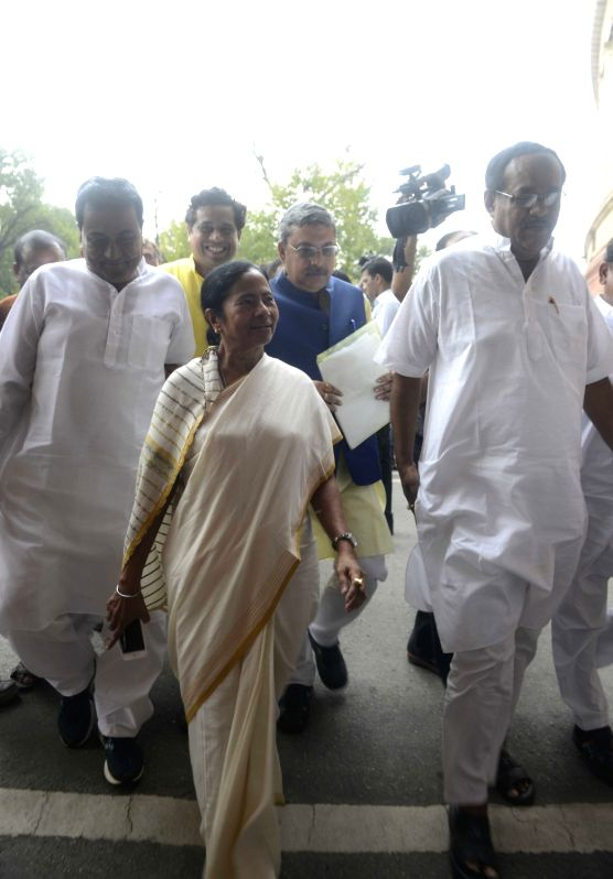West Bengal Chief Minister Mamata Banerjee arrives at Parliament in New Delhi, on July 26, 2016. - Mamata Banerjee