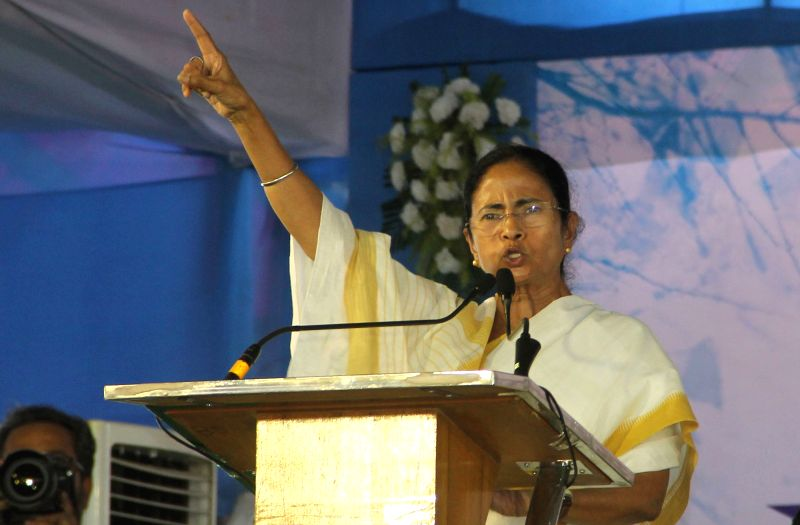 West Bengal Chief Minister Mamata Banerjee addresses during a programme in Malda on May  4, 2017. - Mamata Banerjee